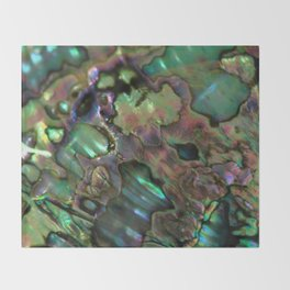 Oil Slick Abalone Mother Of Pearl Throw Blanket