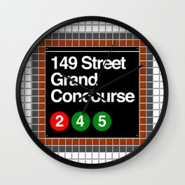 subway grand concourse sign Wall Clock
