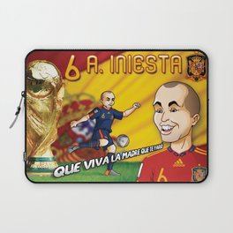 Andres Iniesta 2010 Laptop Sleeve