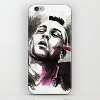 taxi driver iPhone & iPod Skins featuring Taxi Driver by Juan Pablo Cortes