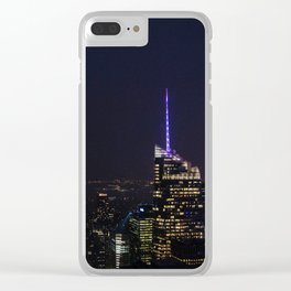 NYC Iconic Night Sky Clear iPhone Case