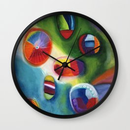 floating circles Wall Clock