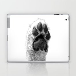 Black and White Dog Paw Laptop & iPad Skin
