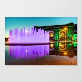 Purple Waters and Union Station - Kansas City Canvas Print