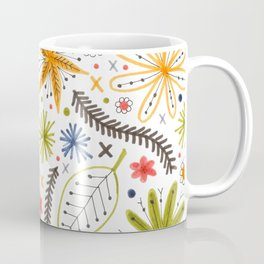 colorful funky floral pattern Coffee Mug