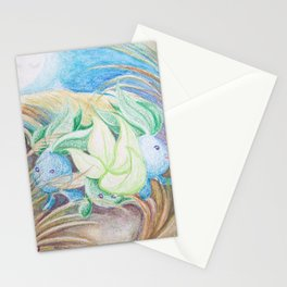 Oddish Moonlight Petal Dance Stationery Cards