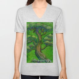 Bonsai Tree Green Unisex V-Neck