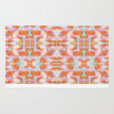 Summer Tangerine Creamsicle Pattern Rug