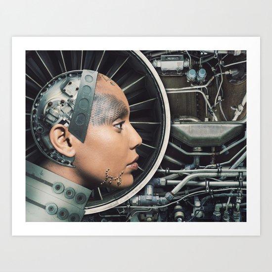 The Female Engine Art Print