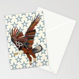 USA eagle pearl Stationery Cards