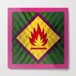 Danger of Flame Metal Print