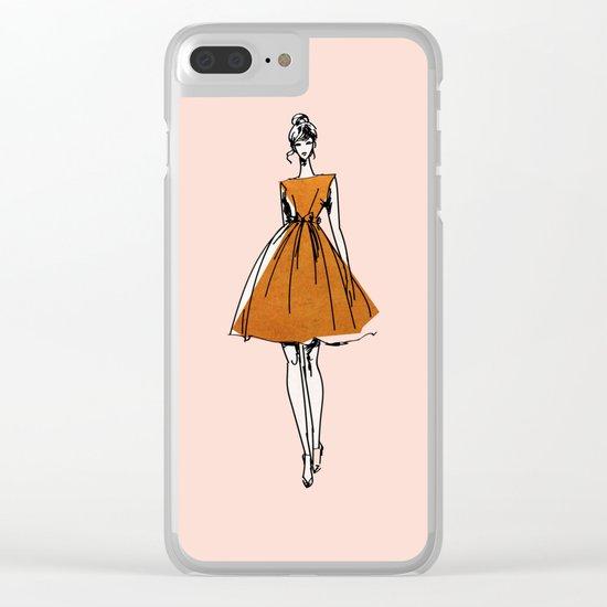 Little Copper Dress Clear iPhone Case