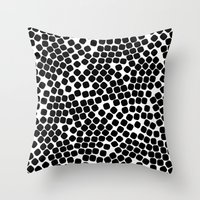dots Throw Pillows featuring Dots by Patterns and Textures