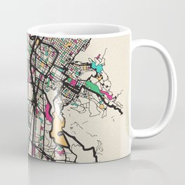Colorful City Maps: Medellin, Colombia Coffee Mug