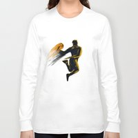 basketball Long Sleeve T-shirts featuring Basketball  by Enzo Lo Re