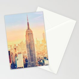 New York City Sunset Glow Stationery Cards