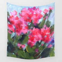 Bright Geraniums Wall Tapestry