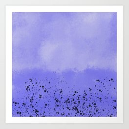 Abstract speckled background - purple Art Print