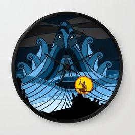Ocean God Wall Clock