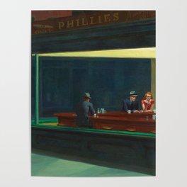 NIGHTHAWKS - EDWARD HOPPER Poster