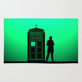 Tardis With The First Doctor Rug