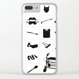 Modern medical equipment and supplies - set 4 Clear iPhone Case