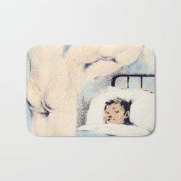 Hand colored vintage dream nude sleeping Bath Mat