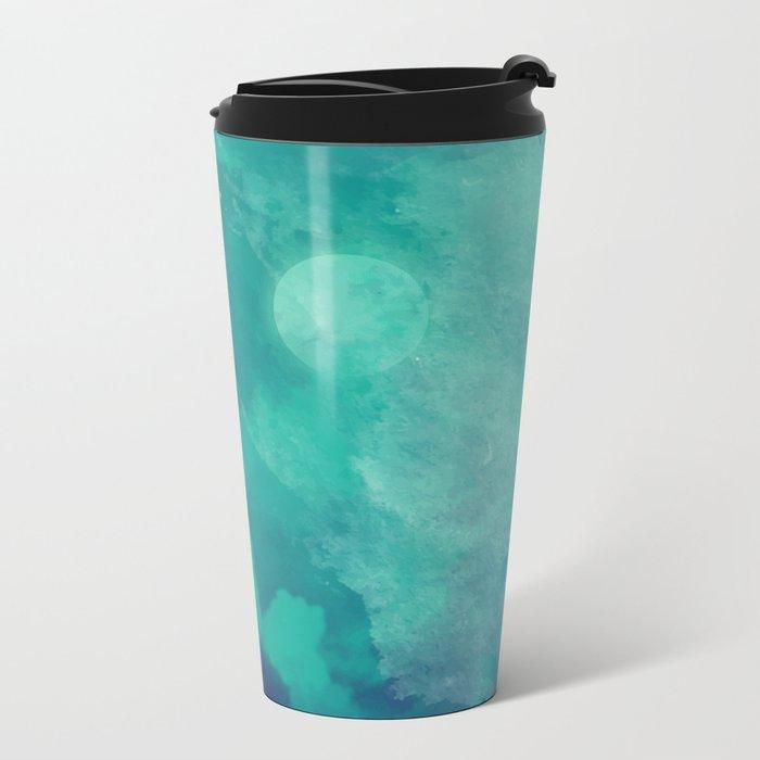 Watercolor night sky Metal Travel Mug