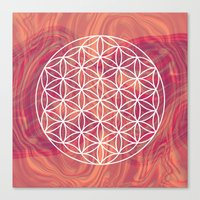 flower of life Canvas Prints featuring Life Flower by shutupbek