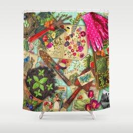 A Vintage Garden Shower Curtain