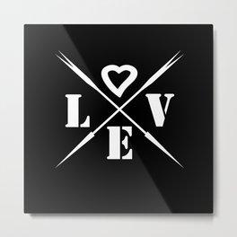 Valentine's day . Love .2 black Metal Print