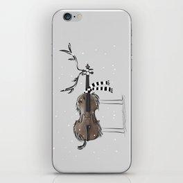 Christmas Violin Reindeer iPhone Skin