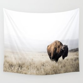 Bison stance Wall Tapestry