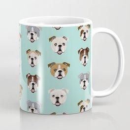 English Bulldog pattern print dog breed pet portrait gifts for dog owner bulldog Coffee Mug