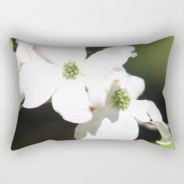 White Dogwood Rectangular Pillow
