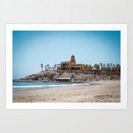 Beach House on the Hill Art Print