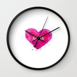 XOXO,Engagement Gift,Anniversary Print,Women Gift,Gift For Her,Dorm Decor,XOXO Wall Decor,Bathroom Wall Clock