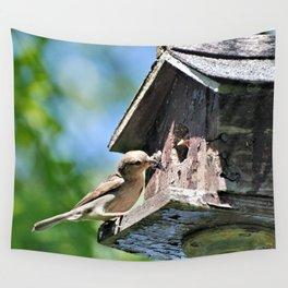 Tasty Bite for Baby Bird Wall Tapestry