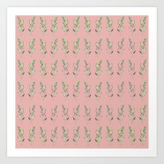 Nature repetition pink Art Print