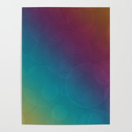 Bohek Bubbles on Rainbow of Color - Ombre multi Colored Spheres Poster