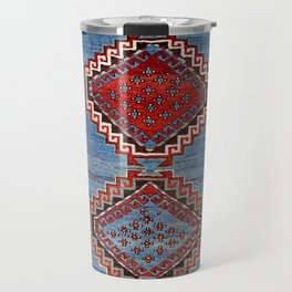 Kazak  Antique South West Caucasus Rug Print Travel Mug