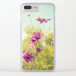 summer cosmos Clear iPhone Case
