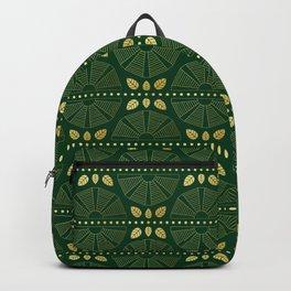 Emerald Art Deco Fan Backpack