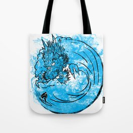 Dragon Waves Tote Bag