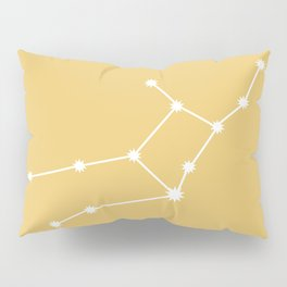 Virgo Zodiac Constellation - Golden Yellow Pillow Sham