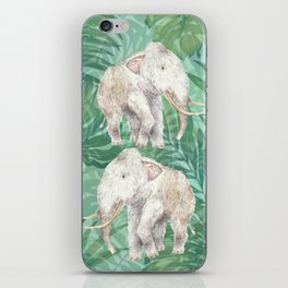 Woolly Mammoth Watercolor Mastodon Painting iPhone Skin