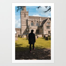 Cemetery walk Art Print