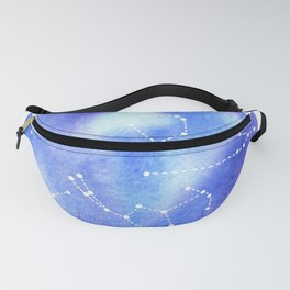 Night Sky Constellations Watercolor Graphic v.1 Fanny Pack