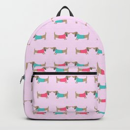 Cute dog lovers in love with heart Backpack