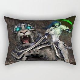 Moon elf beast rider Rectangular Pillow